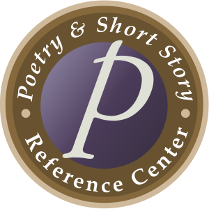 """Poetry and Short Story Reference Center logo with a """"P"""" in the center"""